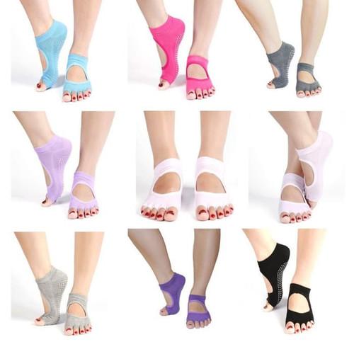 Foto Produk KK001 Open Finger Kaos Kaki Yoga Pilates Antislip Socks Jari Terbuka dari EnnWen Online Store