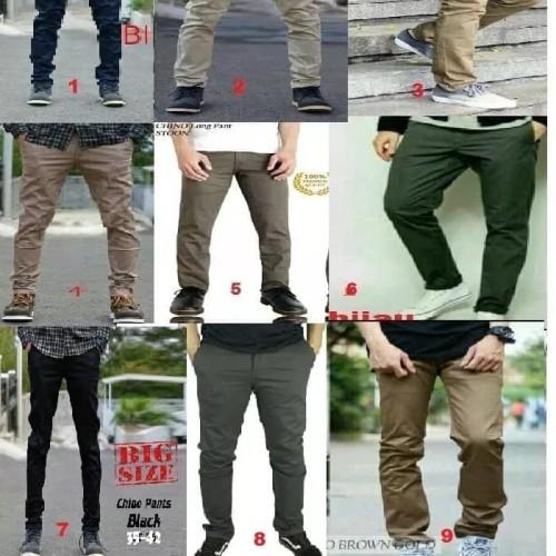 Foto Produk Celana Pria Chino Cokelat Tua BIG SIZE-Mocca-JUMBO-38-39-40-41-42 - 36 dari sepatu azer