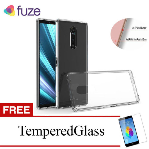 Foto Produk Fuze Case for Sony Xperia 1 - XZ4 - 6.5 inch - Clear - Gratis Tempered dari Mentari Grasindo Teknik