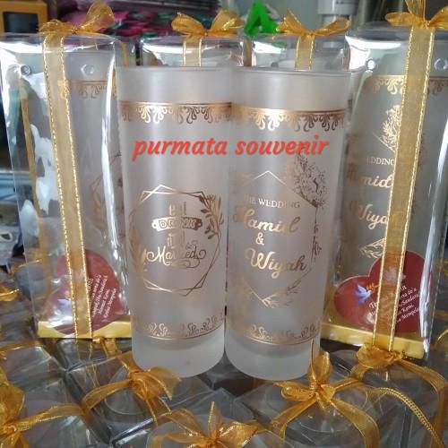 Foto Produk souvenir gelas slim/souvenir gelas murah/souvenir pernikahan dari purmata souvenir
