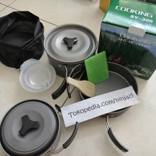 "Foto Produk DS 300 - Alat masak camping - cooking set - Tipe ""SY"" dari Ninjazi"