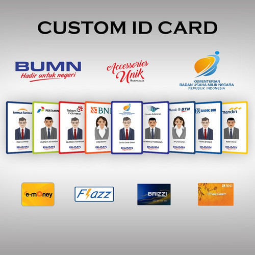 Foto Produk (1 SISI) MINIMAL ORDER 10 PCS BNI TAPCASH custom design bebas !!! dari emoney custom kartu