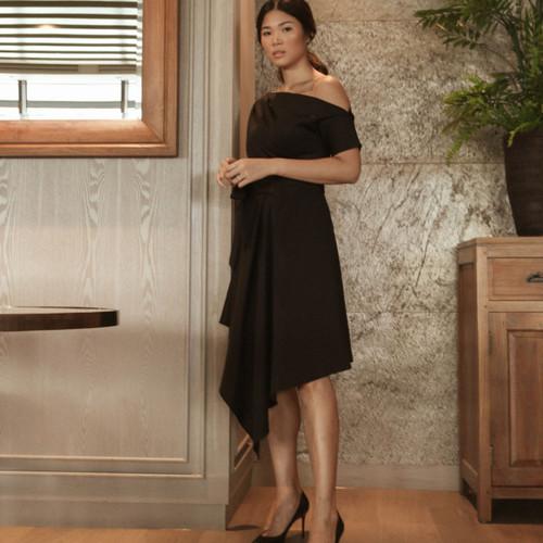 Foto Produk ARIANA WRAP DRESS BLACK - S dari At Vezzo