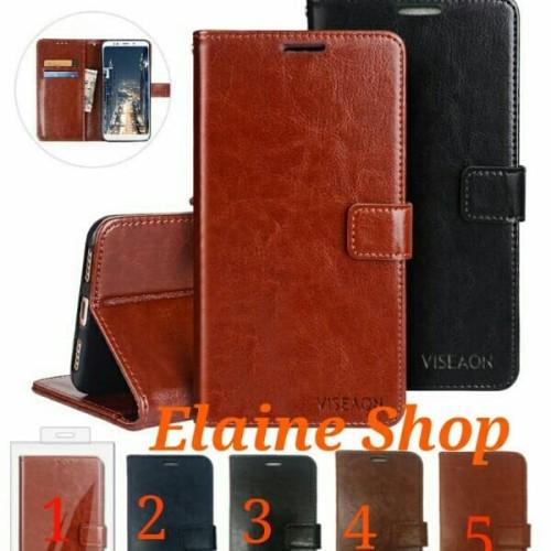 Foto Produk Flip Cover Samsung A10 A20 A30 Stand VISEAON Flip Wallet Leather Case dari ELAINE_SHOP