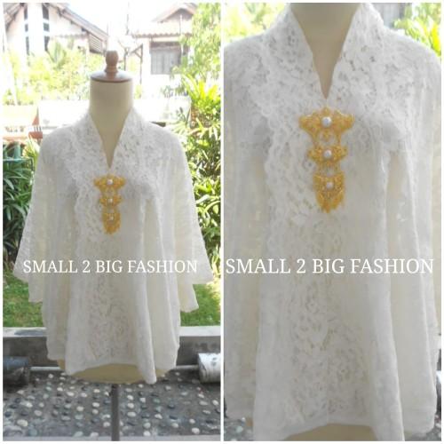 Foto Produk kebaya brokat jumbo 3L 4L 5L 6L 7L 8L / blouse brukat panjang big size dari Small 2 Big Fashion