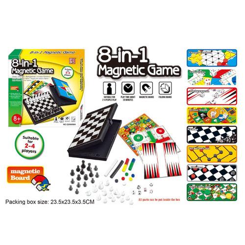 Foto Produk Magnetic Board Game 8 In 1 - Ludo-Halma-Catur dll- Mainan Edukatif dari EAZYTOYS