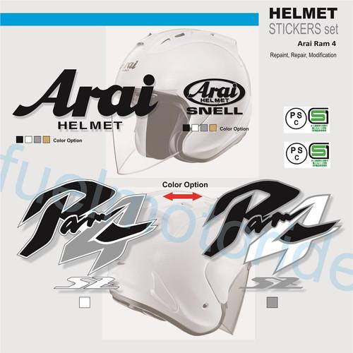 Foto Produk Sticker Set Helm Arai Ram 4 IV utk repaint modif repair not shoei dari Fuel