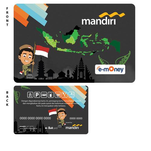 Foto Produk (1 SISI) MINIMAL ORDER 10 PCS emoney custom mandiri design bebas !!! dari emoney custom kartu