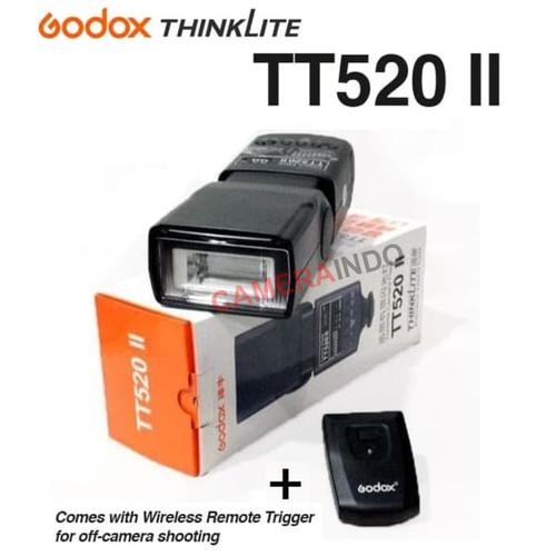 Foto Produk Flash Godox TT520 II plus Wireless Trigger Speedlite kamera mirrorless dari SMN Official
