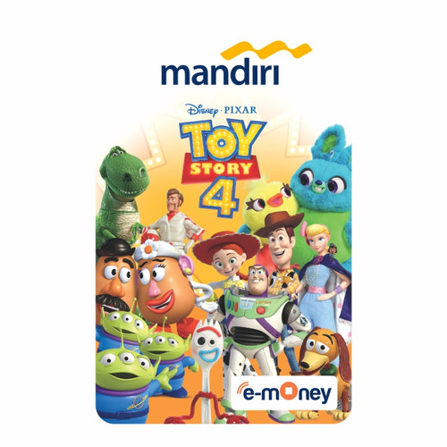 Foto Produk MANDIRI E-MONEY SPECIAL EDITION TOY STORY 4 COMPLETE CHARACTERS dari Mandiri E-Store