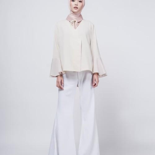 Foto Produk Cream plum sleeves shirt - Cokelat dari ASK by Asky Febrianti