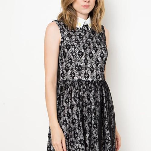 Foto Produk Hillary Lace Dress - Hitam, M dari Voerin Official