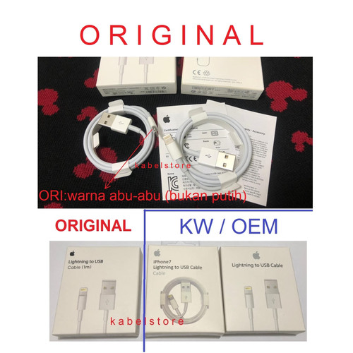 Foto Produk ORIGINAL Apple Kabel Charger Iphone 6 6s 6+ 6s+ plus 7 5 Ipad USB Data dari Kabel Store -KabelApple