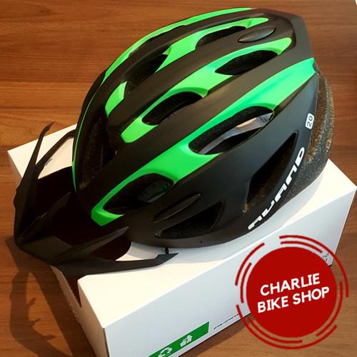 Foto Produk Helm Sepeda Avand A20 New Model 2019 Hitam Hijau - Black Green 270Gr dari Charlie Bike Shop