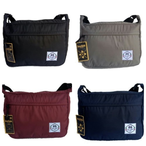 Foto Produk tas selempang slempang sling bag slingbag parasut - Abu-abu dari L Habib