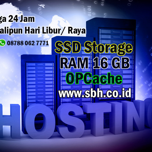 Foto Produk sbh.co.id - SSD Hosting, POWERFUL RAM 16 GB, Hosting Murah dari Barang Bekas, Second TOP