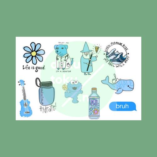 Jual Sticker Tumblr Aesthetic Blue Biru Lucu Murah Kota Tangerang Dokutoku No Tokopedia
