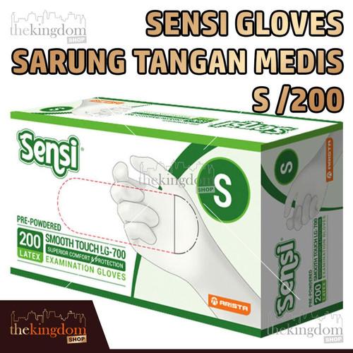 Foto Produk Sensi Gloves Sarung Tangan Medis Karet Latex Glove Disposable S /200 - Packing Plastik dari The Kingdom Shop