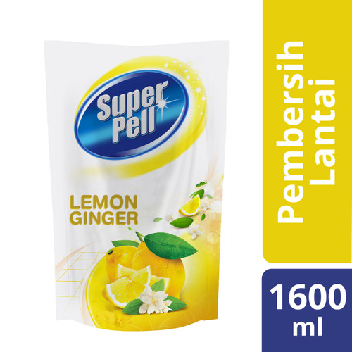 Foto Produk Superpell Sabun Pel Pembersih Lantai Lemon Ginger 1600Ml dari Unilever Official Store