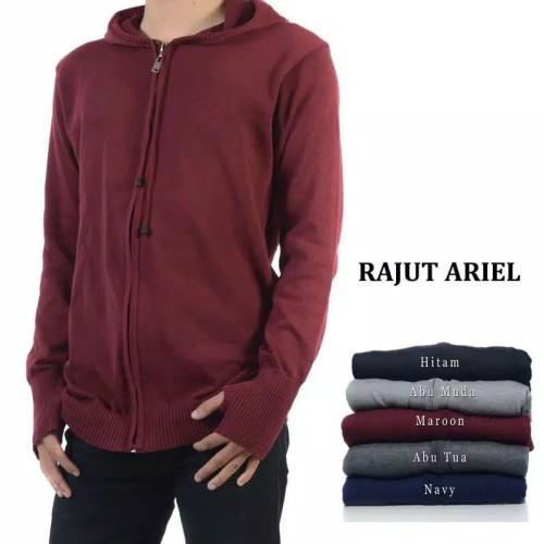Foto Produk JAKET RAJUT ARIEL / RAJUT PRIA WANITA BEST SELLER - Biru dari Gudang Fashion Indonesia