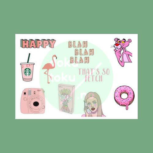 Jual Sticker Tumblr Aesthetic Pink Lucu Murah Kota Tangerang Dokutoku No Tokopedia