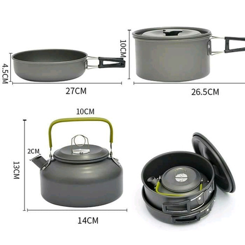 Foto Produk Cooking Set Plus Teko DS308 dari Lapak KQ5 Outdoor