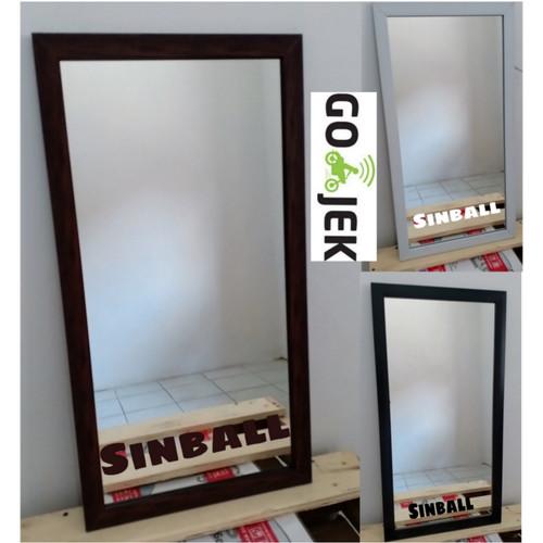 Foto Produk Cermin Kaca Wajah mirror minimalis gantung dinding - Hitam dari sinball_shop