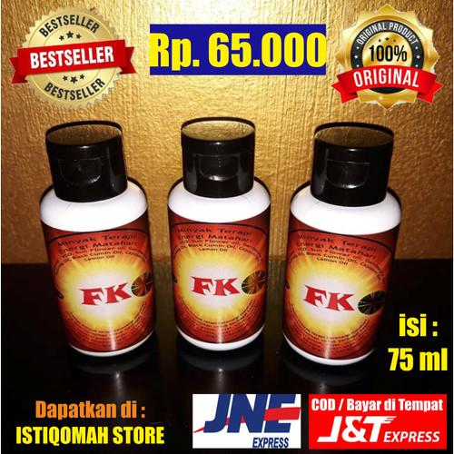 Foto Produk Minyak Terapi Energi Matahari FK isi 75 ml dari Istiqomah-Store