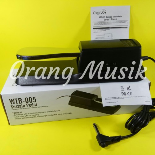 Foto Produk Pedal Sustain Keyboard Cherub WTB-005 Universal untuk Yamaha Korg dll dari Orang Musik