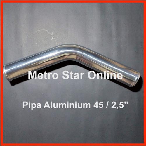 """Foto Produk Pipa Turbo Intercooler Turbo Intercooler Aluminium Pipe 45 / 2,5"""" dari Metro Star Online"""