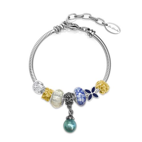 Foto Produk Her Jewellery Pearl Charm Bracelet - Gelang Crystals from Swarovski® - Biru dari Her Jewellery