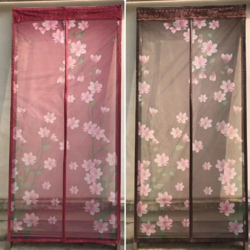 Foto Produk Tirai Pintu Premium Anti Nyamuk Magnetic Door Yarn Curtain - Mommy-Coklat dari Belly Belly