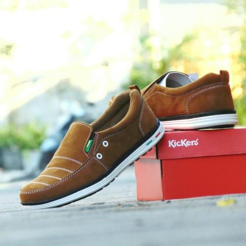 Foto Produk Sepatu Pria Kerja Kickers Sidney Corduray - Coklat Tan - Slip On Slop dari RINDU_ORDER