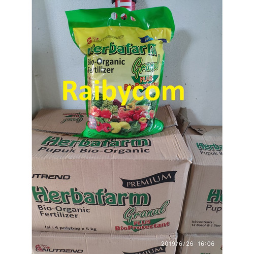 Foto Produk Herbafarm Granul 5Kg Pupuk Sidomuncul Bio Organik Fertilizer dari Raibycom