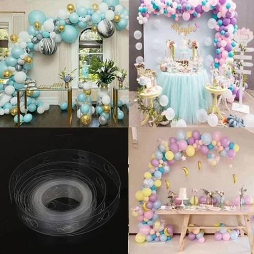 Foto Produk Stripe Tape Balon Dekorasi / Strip Balon Arch Garland Dekorasi balon dari Balonku Shop
