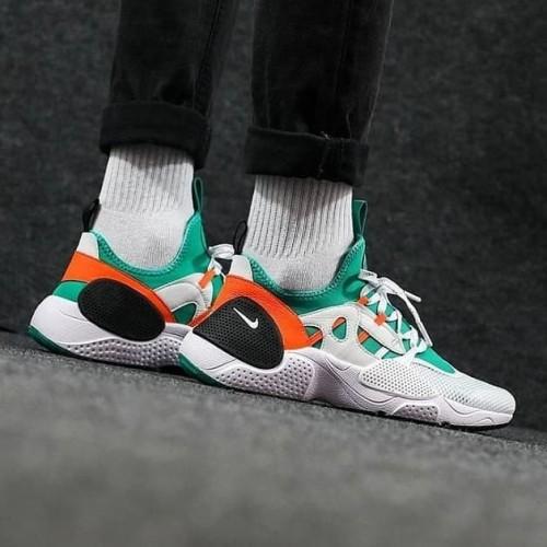 Original Nike Huarache Edge Txt Qs White Clear Emerald Orange