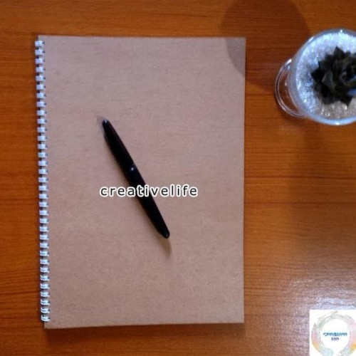 Foto Produk HOT SALE Notebook / Sketch book Spiral DOT Grid / GRAPH A4 | Buku dari liaawaaliah97 shop