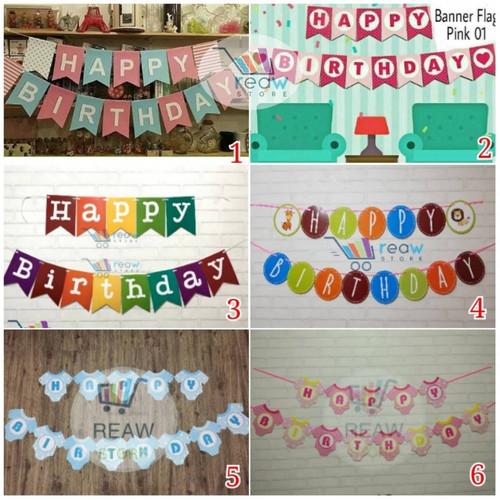 Foto Produk Banner Happy Birthday / Banner Ulang Tahun Aneka Warna dari Reaw Store