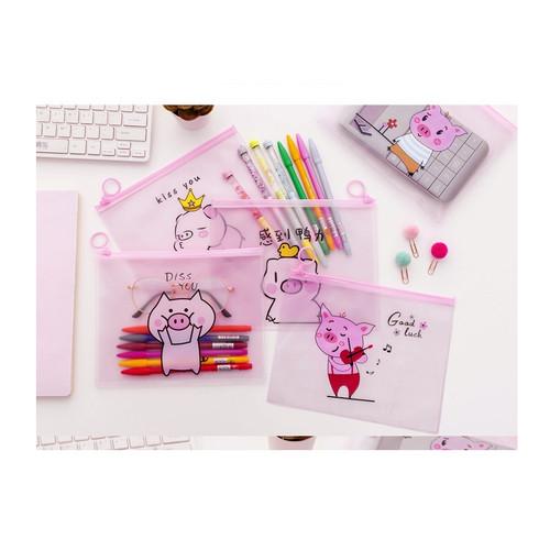 Foto Produk PF12 Japanese Piggy Cartoon A5 Stationery Pencil Case / Tempat Pensil - Piggy satu dari EnnWen Online Store