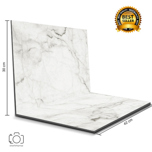 Foto Produk Alas Foto Lipat Marble 42x30 cm / Background Foto marmer (ML-01) dari alasfotoprops
