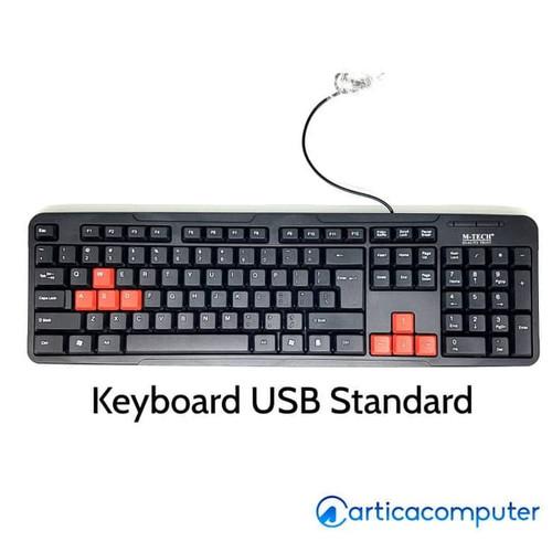 Foto Produk Keyboard USB Mtech Standard Full dari Artica Computer