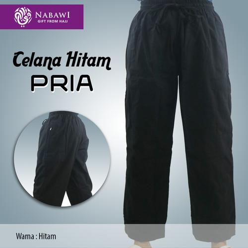 Foto Produk Celana Pria Panjang Hitam Polos Katun Perlengkapan Haji Umroh Murah - M dari Nabawi-sidoarjo