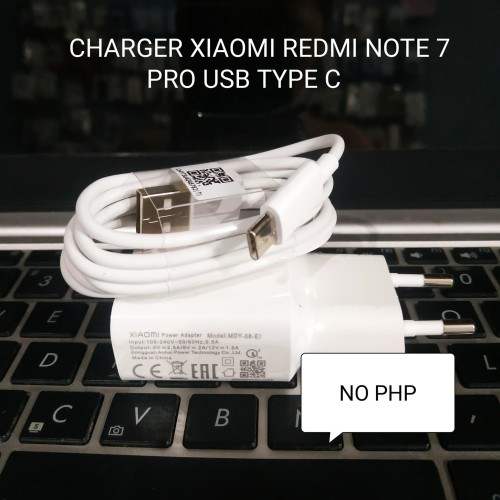 Foto Produk CHARGER XIAOMI REDMI NOTE 7 / PRO FAST CHARGER USB C ORI MDY-08-EI dari NO PHP