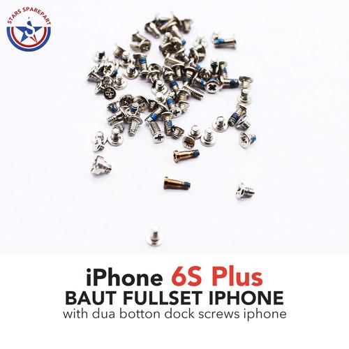 Foto Produk iPhone 6s Plus Baut set-screw set full lengkap - Rose Gold dari Stars Sparepart