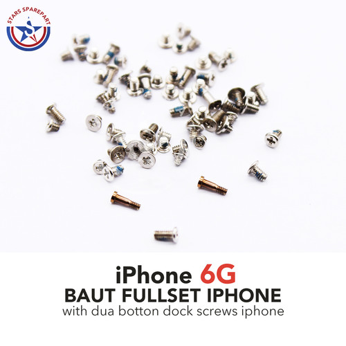 Foto Produk iPhone 6 Baut set-screw set full lengkap - Kuning dari Stars Sparepart