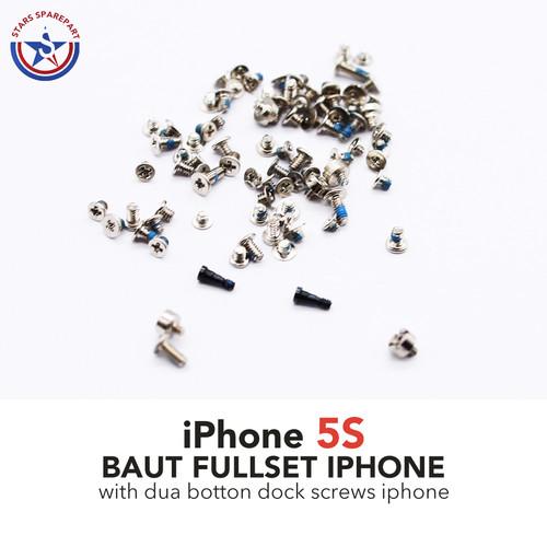 Foto Produk iPhone 5S Baut set-screw set full lengkap - Kuning dari Stars Sparepart
