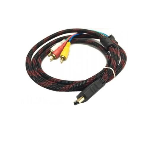 Foto Produk Kabel HDMI TO RCA/AV 1,5M Jaring Gold Plated dari CS New