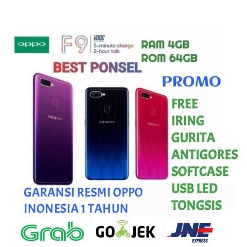Foto Produk OPPO F9 RAM 4GB/64GB GARANSI RESMI OPPO INDONESIA 1 TAHUN - Biru dari BEST PONSEL