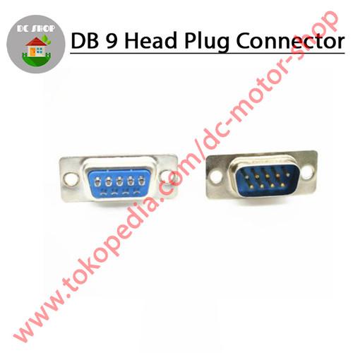 Foto Produk Konektor DB9 DB 9 Male / Female Socket Adapter RS232 Serial Port - Male dari DC Motor Shop
