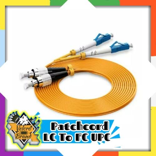 Foto Produk Patchcord 3 Meter LC to FC UPC Duplex SM Kabel Jumper Fiber Optik dari Velcrobrand